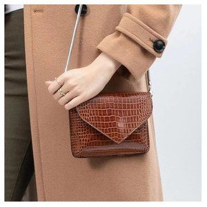 Melie Bianco Bags - Anna Chain Envelope Saddle Luxury Vegan Leather Cl